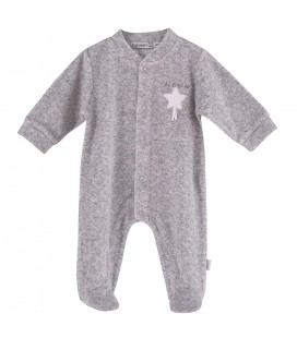 Calamaro - Pelele Estrella gris para bebé