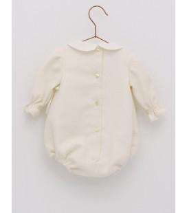 Foque -  Pelele beige para bebé