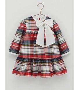 Foque - Vestido cuadros rojo para niña