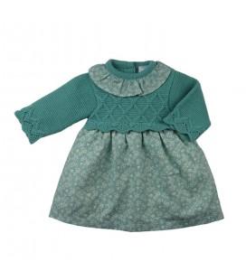 Sardón - Vestido Sofía verde para bebé