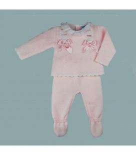 Sardón - Conjunto Belén rosa para bebé