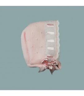 Sardón - Capota Belén rosa para bebé