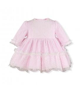 Miranda - Vestido rosa para bebé