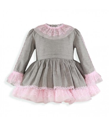 Miranda - Vestido gris para niña