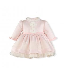Miranda - Vestido rosa palo para bebé