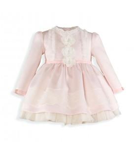 Miranda - Vestido rosa palo para niña