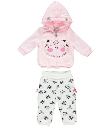 iDo by Miniconf - Chandal rosa y crema para bebé