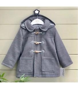 Valentina Bebés - Trenca de paño con capucha gris