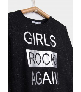 Tiffosi - Camiseta Patsy negra para niña