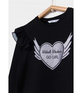 Tiffosi - Camiseta Monik negra para niña