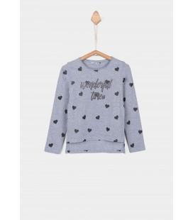 Tiffosi - Camiseta Mercile gris para niña