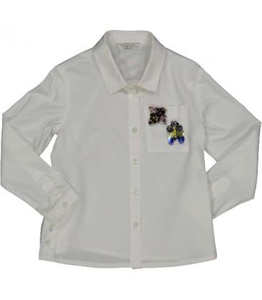 Trybeyond -  Camisa blanca para niña