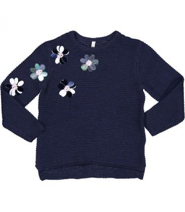 Trybeyond - Jersey azul marino para niña