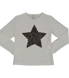 Trybeyond - Camiseta beige para niña