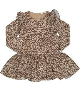 Trybeyond - Vestido animal print para niña