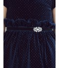Abel&Lula - Vestido terciopelo glitter azul marino