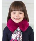 Abel&Lula - Cuello de pelo mora con pañuelo para niña