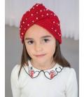 Abel&Lula - Gorro turbante con guantes para niña