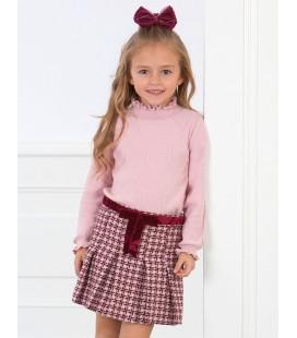 Abel&Lula - Conjunto bermuda y jersey tricot para niña