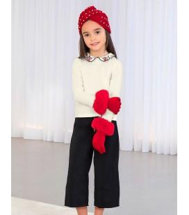 Abel&Lula - Conjunto culotte y blusa bordada