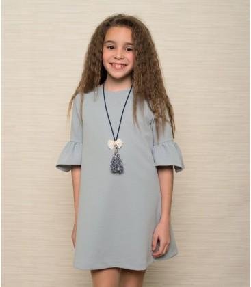 Atelier de Candela - Vestido azul para niña