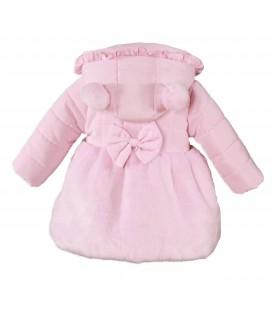 Miranda - Abrigo rosa para bebé