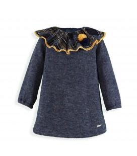 Miranda - Vestido azul marino para niña