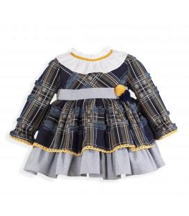 Miranda - Vestido cuadros para bebé