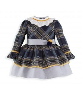 Miranda - Vestido cuadros para niña