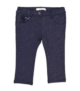 Birba - Pantalones azul marino metalizado para bebé