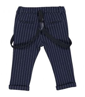 Birba - Pantalones azul marino con tirantes para bebé