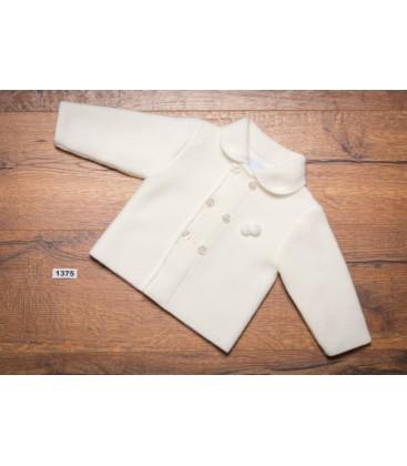 Granlei - Abrigo de punto beige para bebé