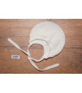Granlei - Capota de punto beige para bebé