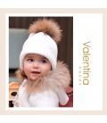 Valentina Bebés - Chaquetón de punto con pelo natural