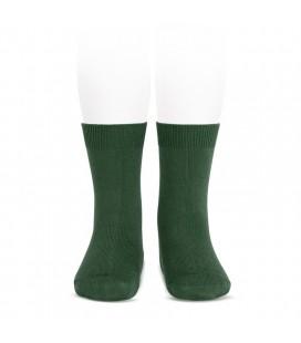 Calcetines básicos punto liso de Cóndor - Verde botella