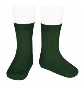 Calcetines básicos canalé de Cóndor - Verde botella