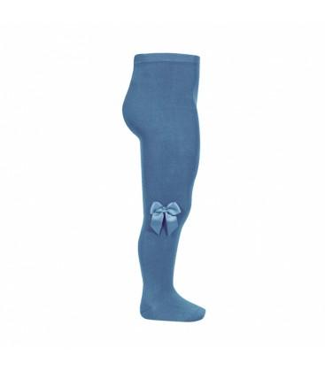 Leotardo algodón con lazo lateral de Cóndor - Azul Francia
