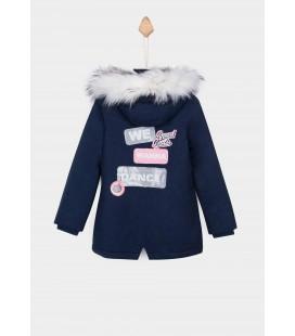Tiffosi - Parka Alisha azul marino para niña