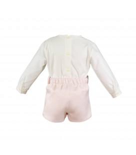 Miranda - Conjunto rosa palo para bebé
