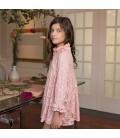 Dolce Aela - Vestido rosa palo para niña