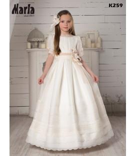 Marla - Vestido seda para primera comunión