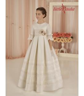 Little Paula - Vestido clásico de seda para primera comunión