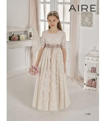 AIRE Barcelona - Vestido vintage blonda primera comunión