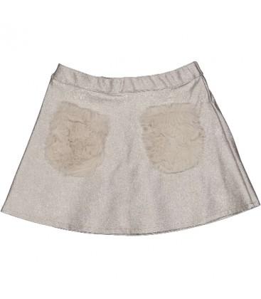 Trybeyond - Falda plata para niña