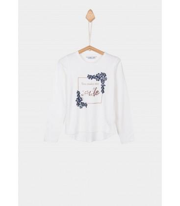 Tiffosi - Camiseta Marfi beige para niña