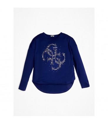 Guess - Camiseta azul para niña