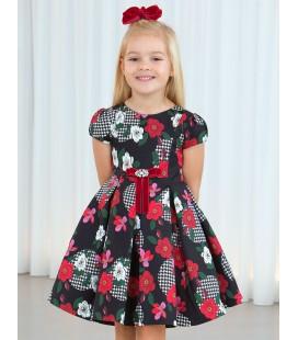 Abel&Lula - Vestido saten estampado floral para niña
