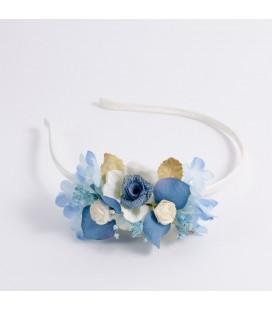 Diadema de flores para niña