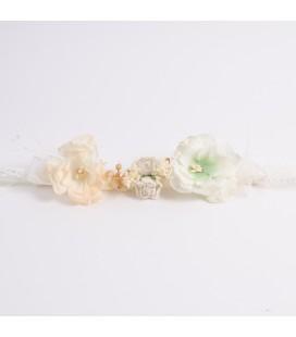 Corona de flores para niña