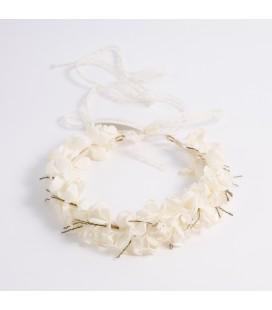 Corona de flores para primera comunión - Beige